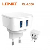 LDNIO DL-AC66 DUAL USB Travel Charger 2.4A (TYPE-C CABLE)